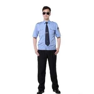 防静电蓝色短袖工作服