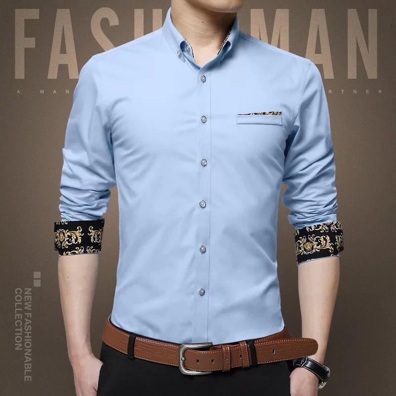 蓝条纹衬衫