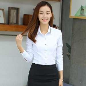 中袖立领女衬衫