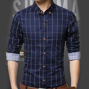 时尚格子弹力衬衫