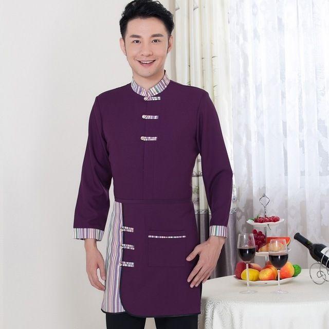 农家乐中式餐厅服务员长袖火锅店东莞工装制服男