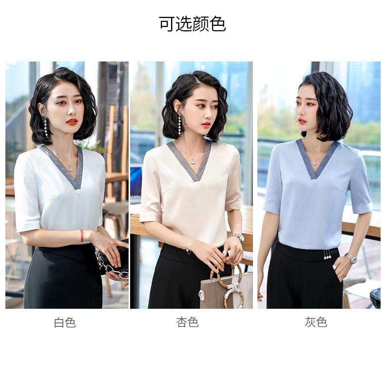 2019春季韩版女士气质显瘦宽松洋气职业白衬衣上衣