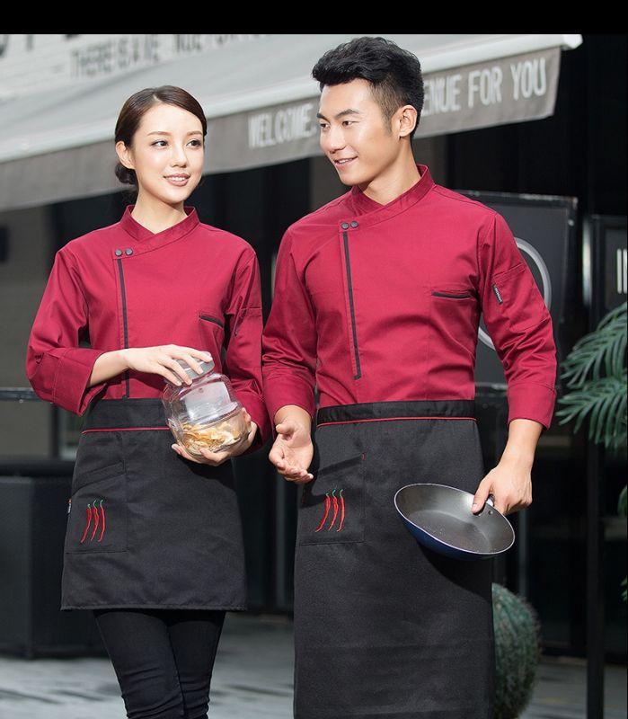厨师服长袖 秋冬装 透气烘培 饭店蛋糕店西餐后厨师东莞工作服男