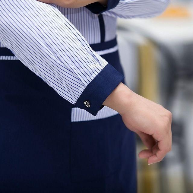 快餐厅汉堡店 服务员东莞工作服 衬衫秋装面包房蛋糕店火锅店东莞工作服长袖