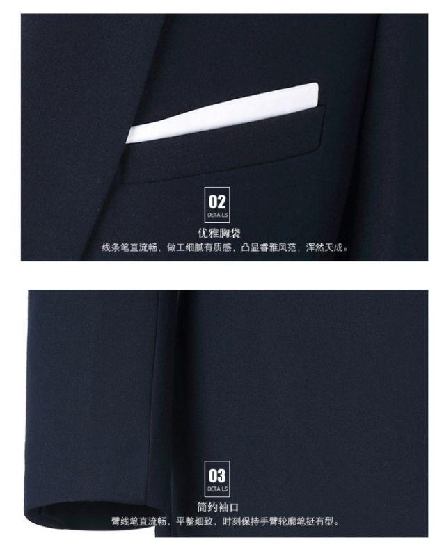 秋冬长袖男款OL职业套装西装大码商务面试西服正装酒店东莞工作服