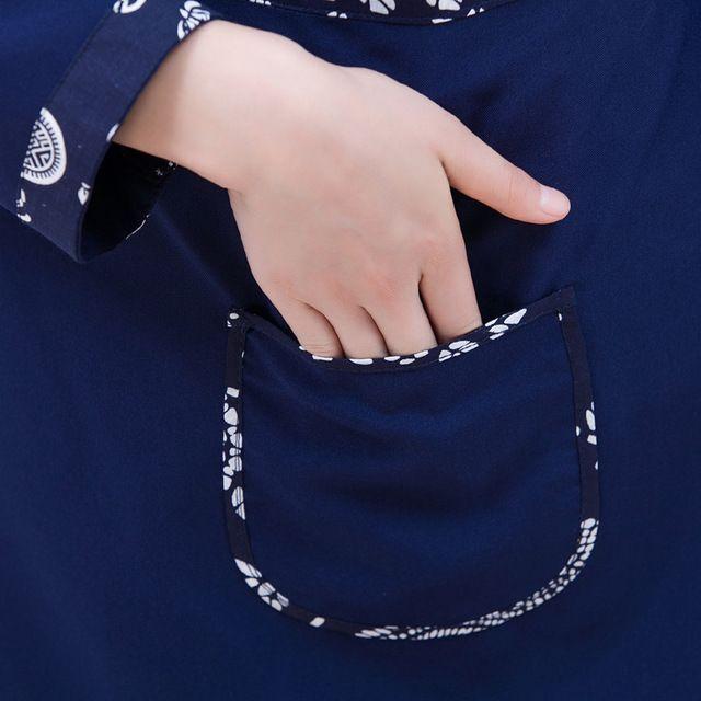 茶楼服务员东莞工作服 长袖男女款土菜馆秋冬装 中式餐厅饭店农家乐服装