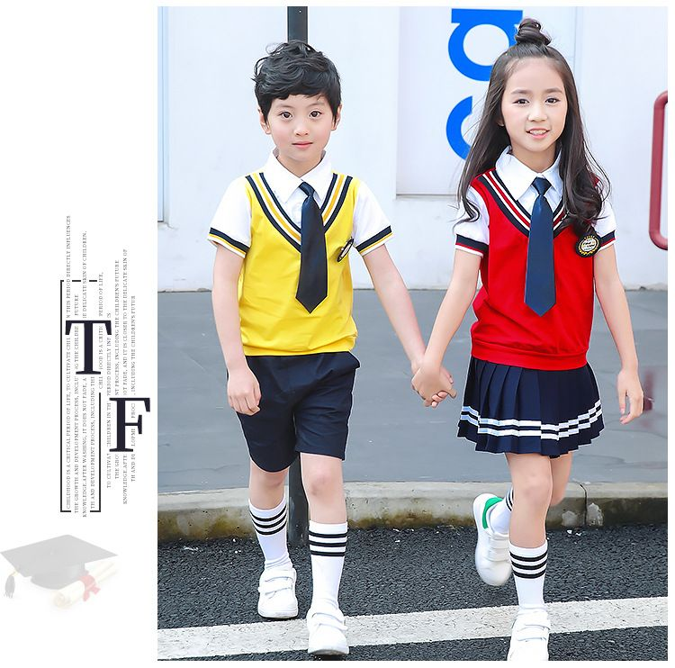 夏季幼儿园园服 纯棉夏装男女儿童一年级班服套装 小学生校服学院风