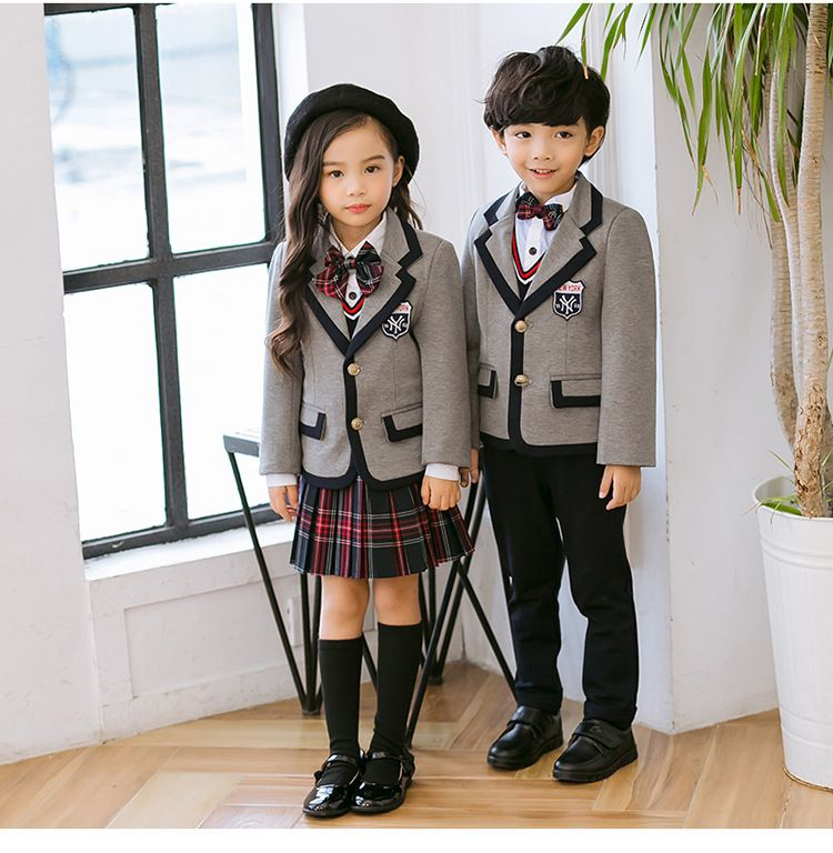 秋季幼儿园园服 春秋套装小学生校服 英伦风三件套儿童定制班服