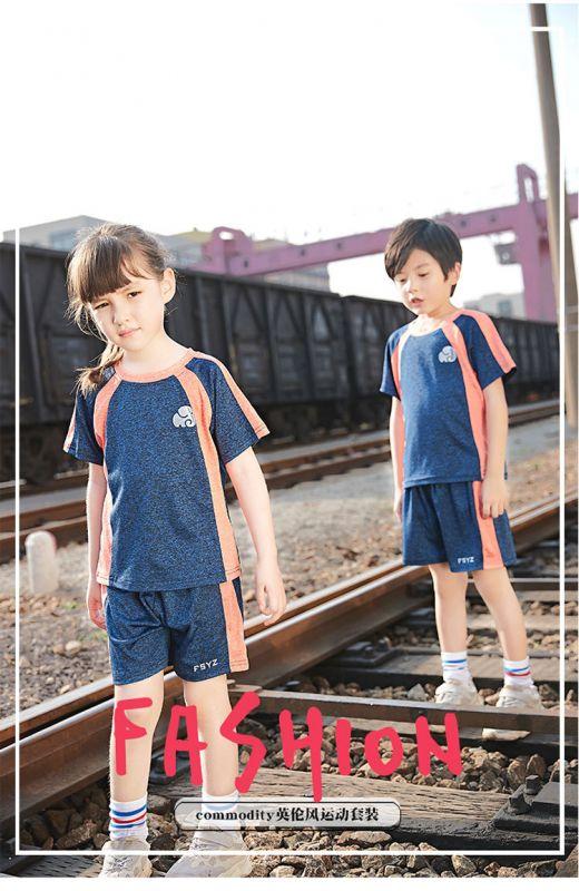 夏季幼儿园园服夏装 纯棉短袖运动套装 小学生校服男女儿童班服校服
