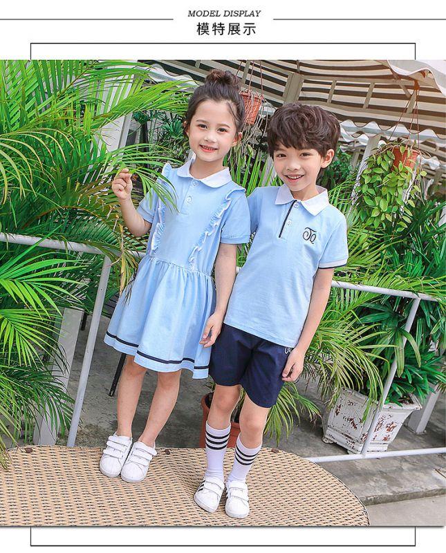 幼儿园园服夏装 小学生校服纯棉套装 儿童班服校服民族风六一表演服