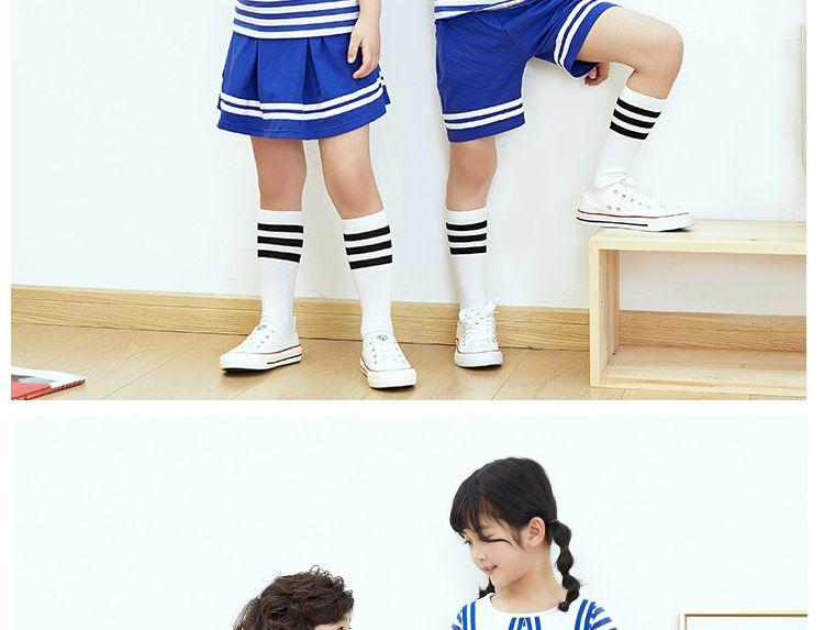 夏季新款幼儿园园服夏装 小学生校服海军风套装 儿童班服六一表演服