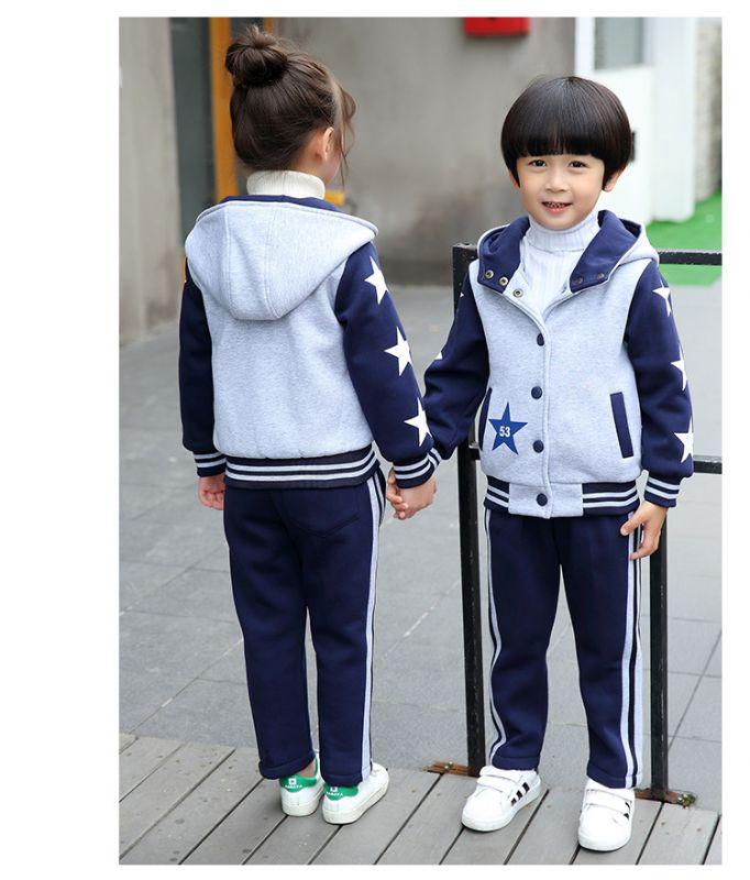 冬季新款幼儿园园服套装 小学生校服加厚棉衣三件套 秋冬季儿童班服
