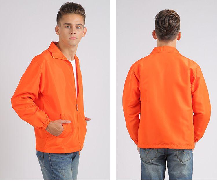 风衣定制长袖外套工衣 diy定做工作服装 印字广告文化衫订做印logo