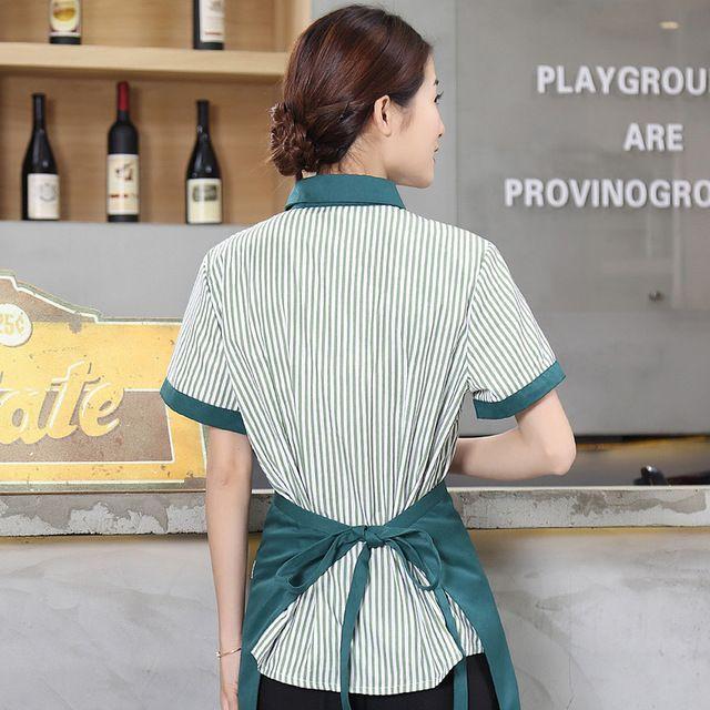 服务员工作服短袖 夏季女酒店餐厅咖啡店串串香饭店服务员工作服男