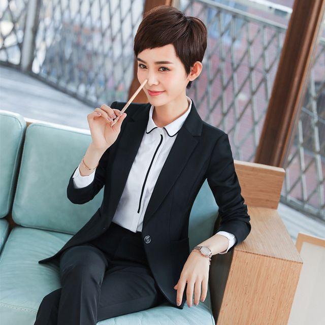 订做职业女套装新款时尚商务女士气质修身面试西服银行工装工作服