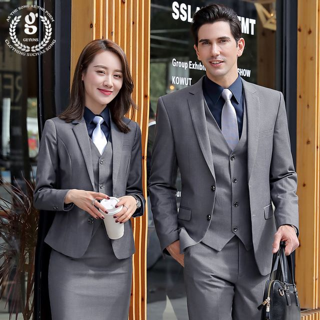套装男款西装酒店 大堂经理正装面试西服银行销售工作服